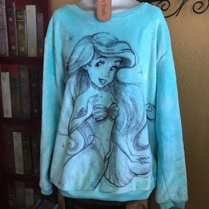 DISNEY velour baby blue Little Mermaid Ariel shirt